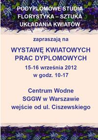 Zaproszenie Wystawa prac florystyka