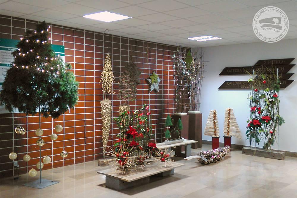Wystawa świąteczna studentów Podyplomowych Studiów Florystyka - 2016