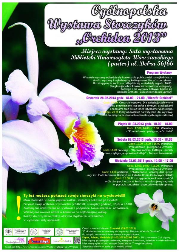 """Wystawa Storczyków """"Orchidea 2013"""""""